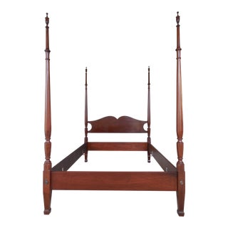 Biggs Chippendale Style Mahogany Full Size Poster Bed For Sale