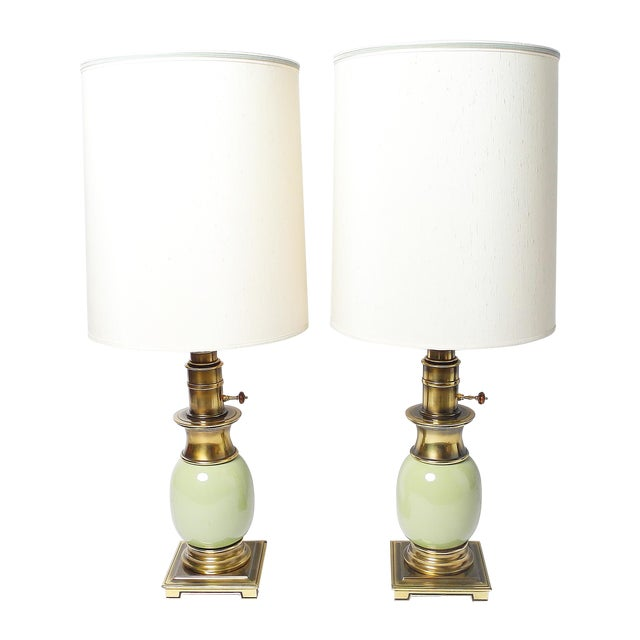 Stiffel Ostrich Egg Table Lamps - Pair - Image 1 of 5