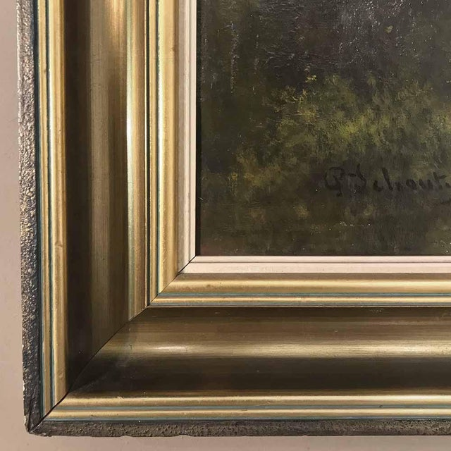 Mid 20th Century Grand Framed Oil Painting on Canvas by G. Schouten For Sale - Image 5 of 12