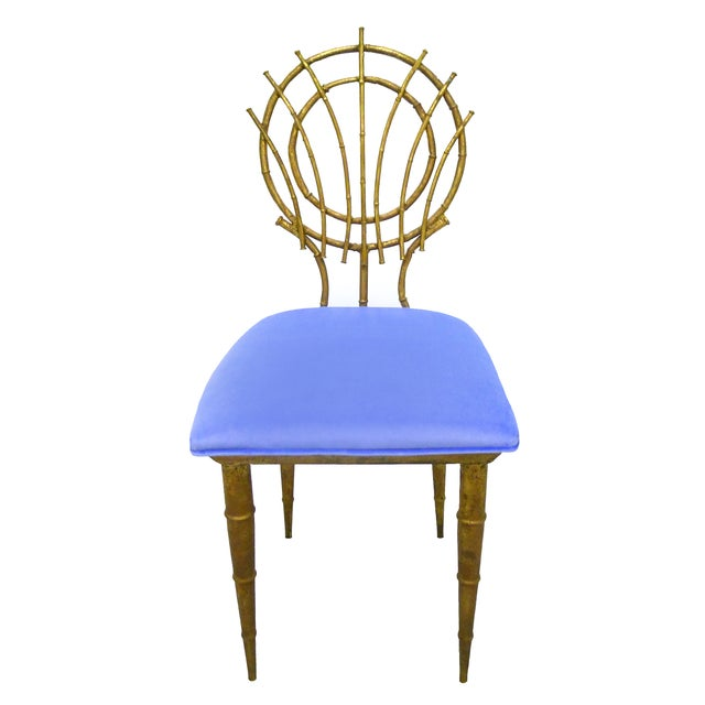 1960s Petite Gilt Bamboo-Style Chairs - A Pair - Image 2 of 7
