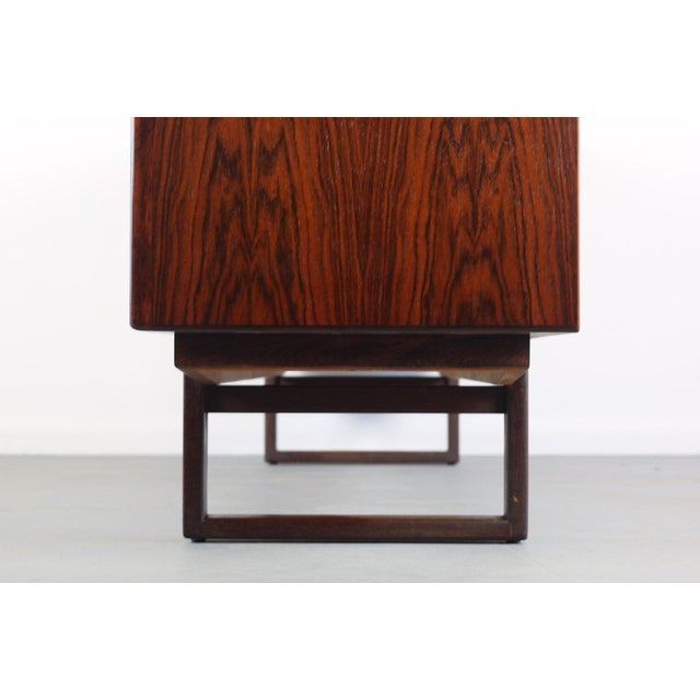 Wood Danish Rosewood Credenza With Sled Legs by Arne Vodder, 1960s For Sale - Image 7 of 10