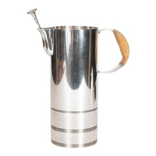 Art Deco Silver Plate Pitcher by Lurelle Guild for the International Silver Co. For Sale