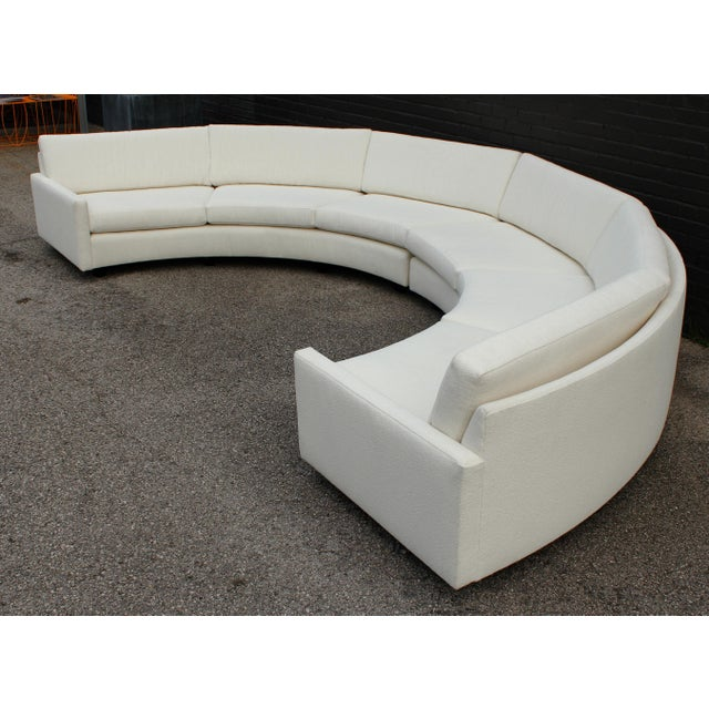 1970s Milo Baughman for Thayer Coggin Circular Sofa Fully Restored For Sale In Dallas - Image 6 of 13