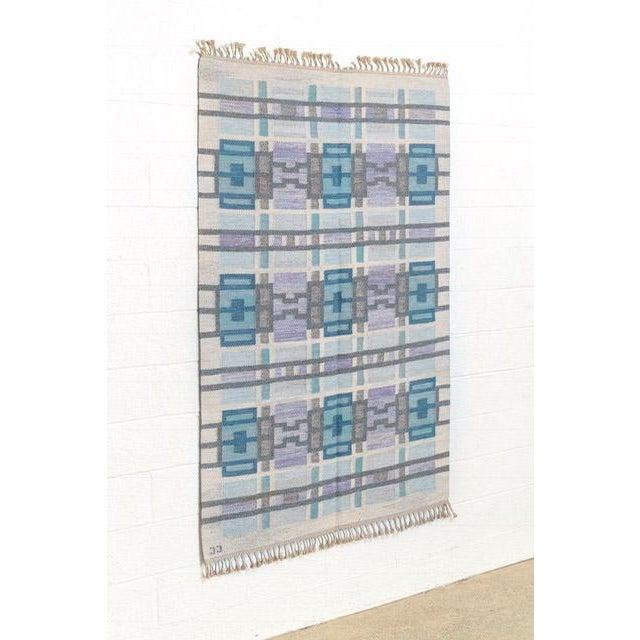 Mid-Century Modern Scandinavian Modern Judith Johansson Tapestry Rug - 4'5'' X 6'8'' For Sale - Image 3 of 11