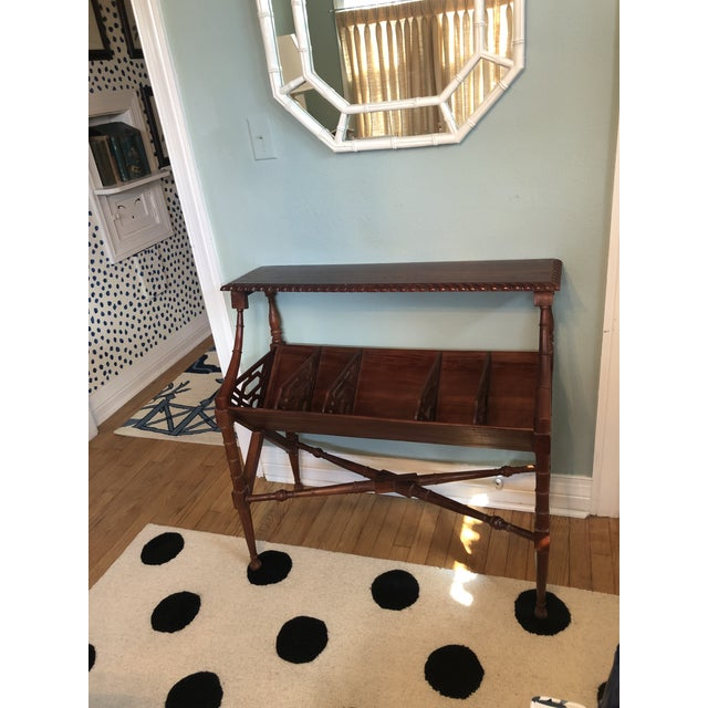 1970s Chinoiserie Faux Bamboo Book Trough Console Table For Sale - Image 5 of 8