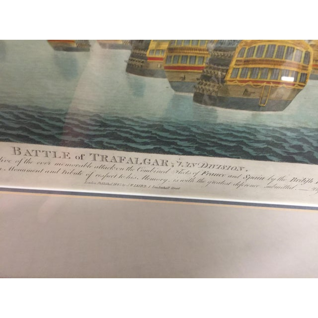 English Battle of Trafalgar Lithograph Nautical For Sale - Image 3 of 5