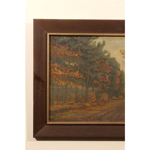 Impressionism Framed Dutch Impressionist Autumn Landscape For Sale - Image 3 of 6