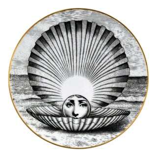 Rosenthal Piero Fornasetti Themes & Variations Porcelain Plate Motiv 14 1980s. For Sale