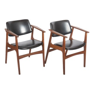 Scandinavian Armchairs in the Stylo of Erik Kirkegaard For Sale
