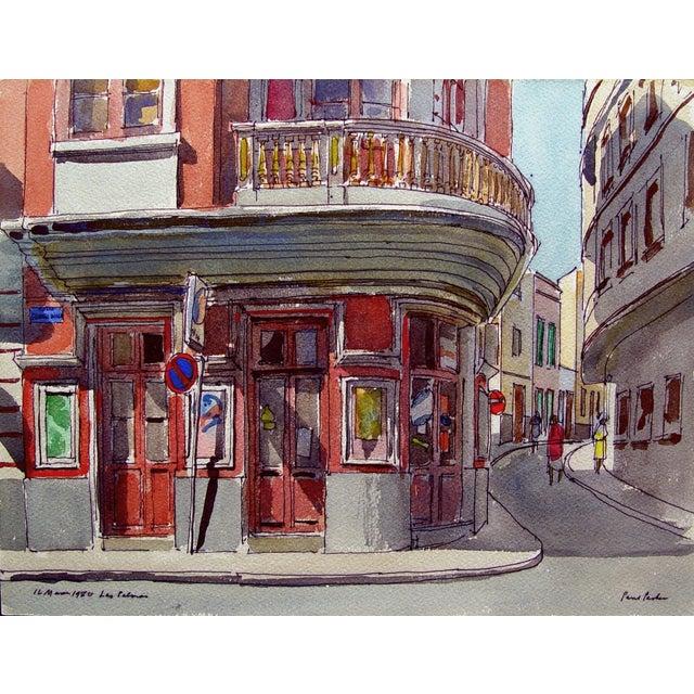 "Paul Parker ""Las Palmas"" Watercolor Painting - Image 1 of 3"