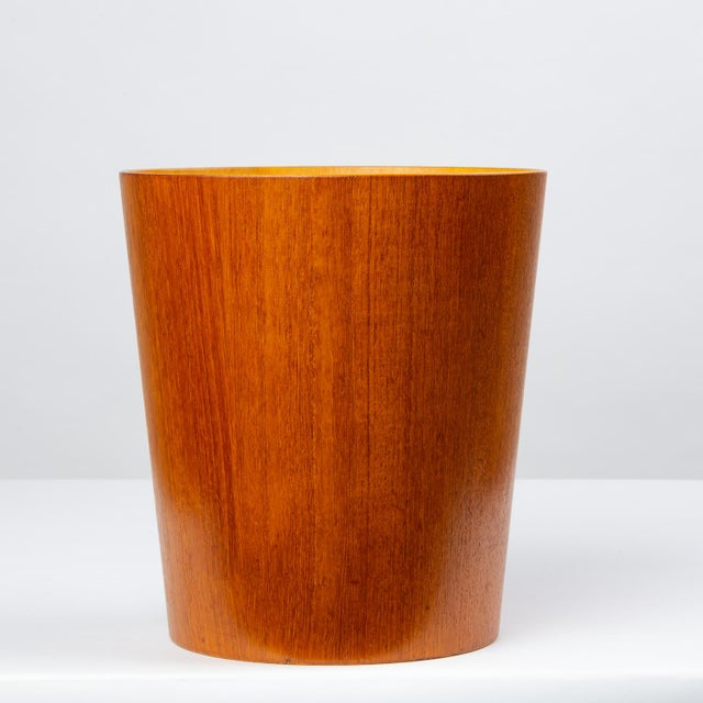 Servex Rainbow Wood Products Teak Wastebasket by Martin Åberg For Sale - Image 4 of 10