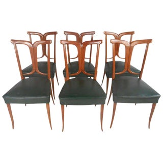 Osvaldo Borsani Inspired Mid-Century Italian Dining Chairs - Set of 6 For Sale