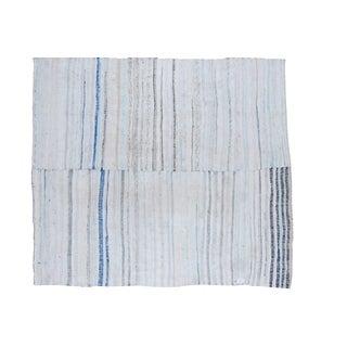 "Vintage Hand-Woven Rag Rug Carpet - 6' 9"" x 7' 2"""
