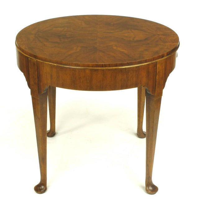 "Baker Furniture ""Milling Road"" Figured Walnut Regency Side Table - Image 3 of 10"