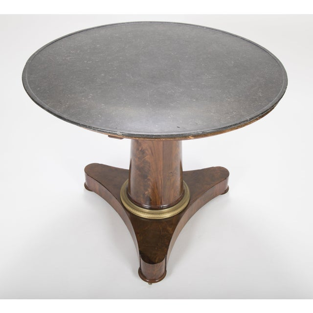 19th Century English Marble Top Center Table For Sale - Image 4 of 13