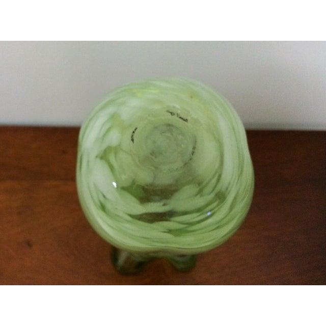 Mid-Century Murano-Like Art Glass Vase For Sale - Image 4 of 6