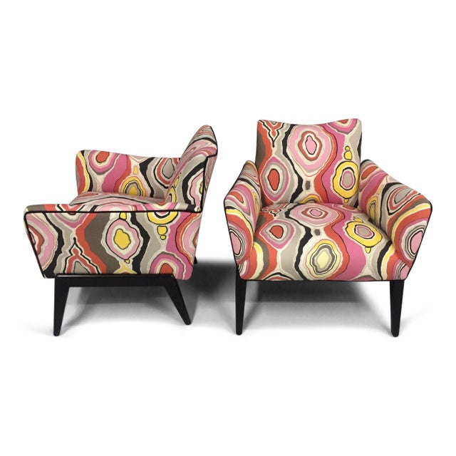 Italian Mid Century Lounge Chairs in the Style of Ico Parisi - a Pair - Image 2 of 9