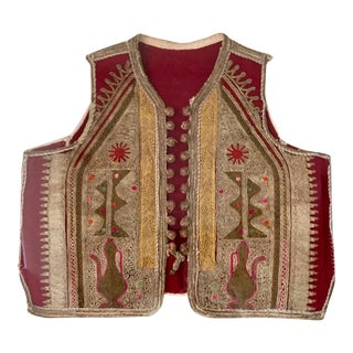 19th Century Antique Ottoman Embroidered Vest Framed in a Lucite Box For Sale