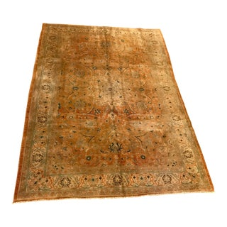 Vintage Persian Sarouk Area Rug - 7' X 10' For Sale