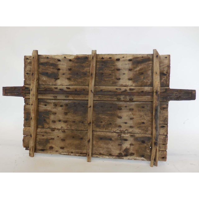 Rustic Wood and Iron Architectural Element For Sale - Image 3 of 8