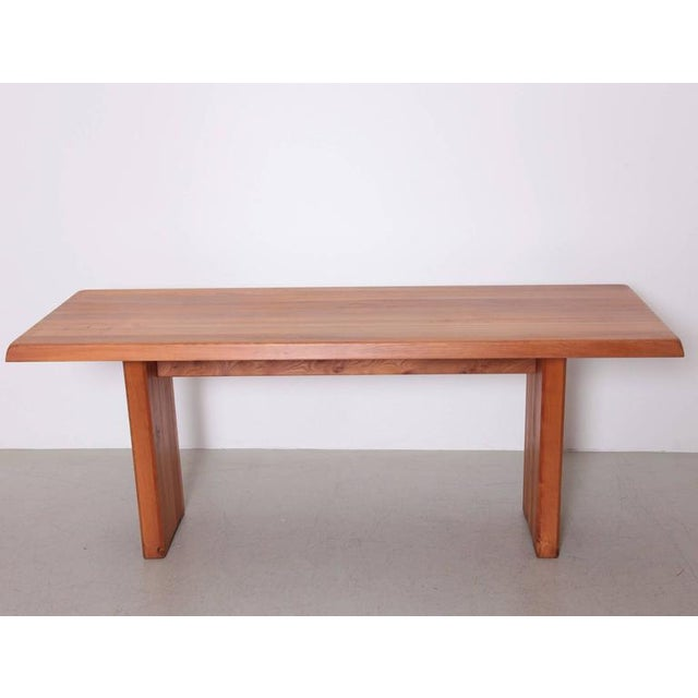 Pierre Chapo Large Pierre Chapo T19 Dining Table in Solid Elm For Sale - Image 4 of 8