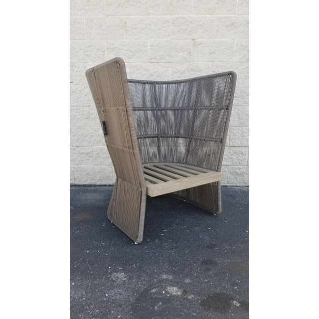 Restoration Hardware Havana Fan Chair Crafted by Louis Ho, the Havana collection mixes contrasting materials for a modern,...
