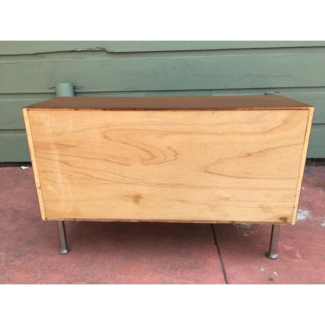 Small Mid-Century Danish Modern Teak Cabinet For Sale - Image 4 of 5