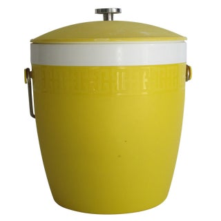 1950's Yellow Ice Bucket