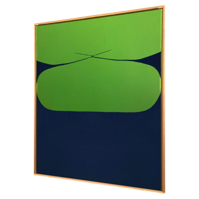 Contemporary Contemporary Minimalist Abstract Hard Edge Acrylic and Gouache Painting by Brooks Burns, Framed For Sale - Image 3 of 5
