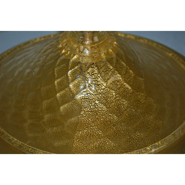 Gold Marbro Murano Candelabra Glass Table Lamps Gold For Sale - Image 8 of 10