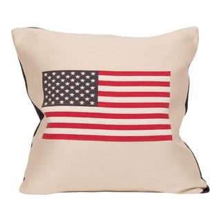 Usa American Flag Throw Pillow Inserts (Pair) For Sale