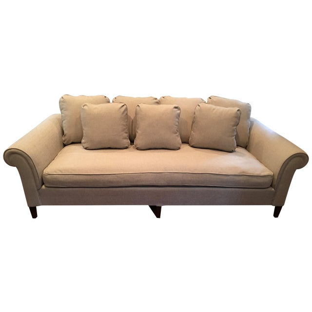 1970s Linen Sofa - Image 1 of 6