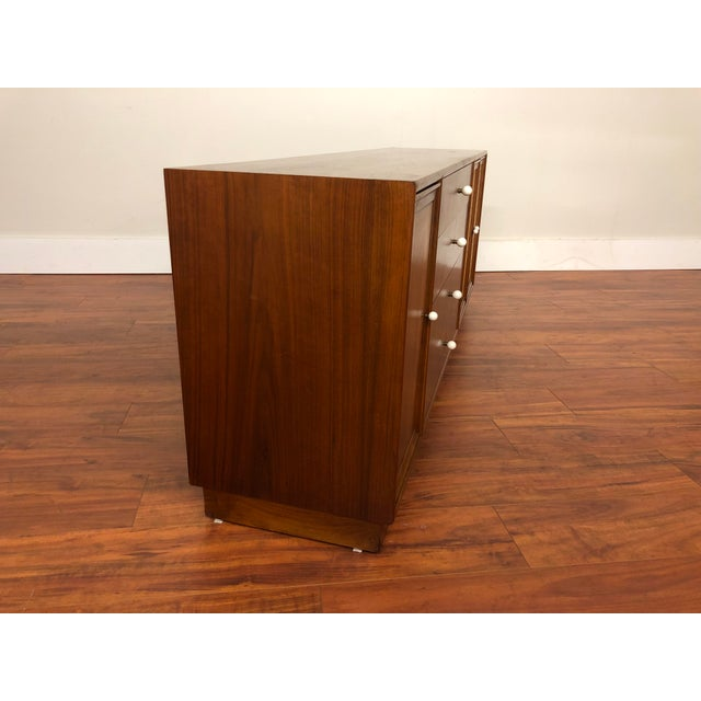 1960s Drexel Declaration Walnut Sideboard With Cane Accents For Sale - Image 5 of 12