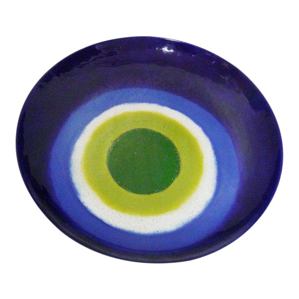 Large, Signed, Curtis Jere Wall Turkish Eye Tray/Charger Plate For Sale