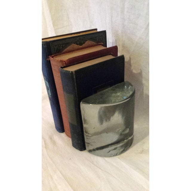 Vintage Glass Ice Block Bookends - A Pair - Image 4 of 6
