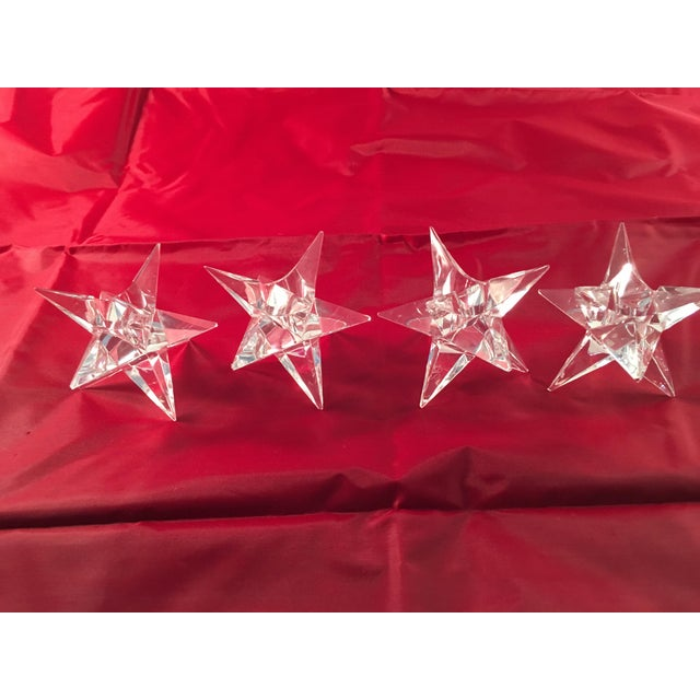 Rosenthal Crystal Star Candle Holders - 4 - Image 4 of 5