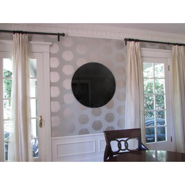 Modern Black Glass Mirror - Image 3 of 4