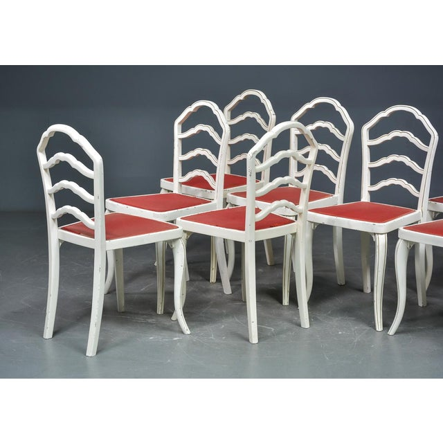Red Dining Chairs by Thonet, 1930 - Set of 8 For Sale - Image 8 of 11