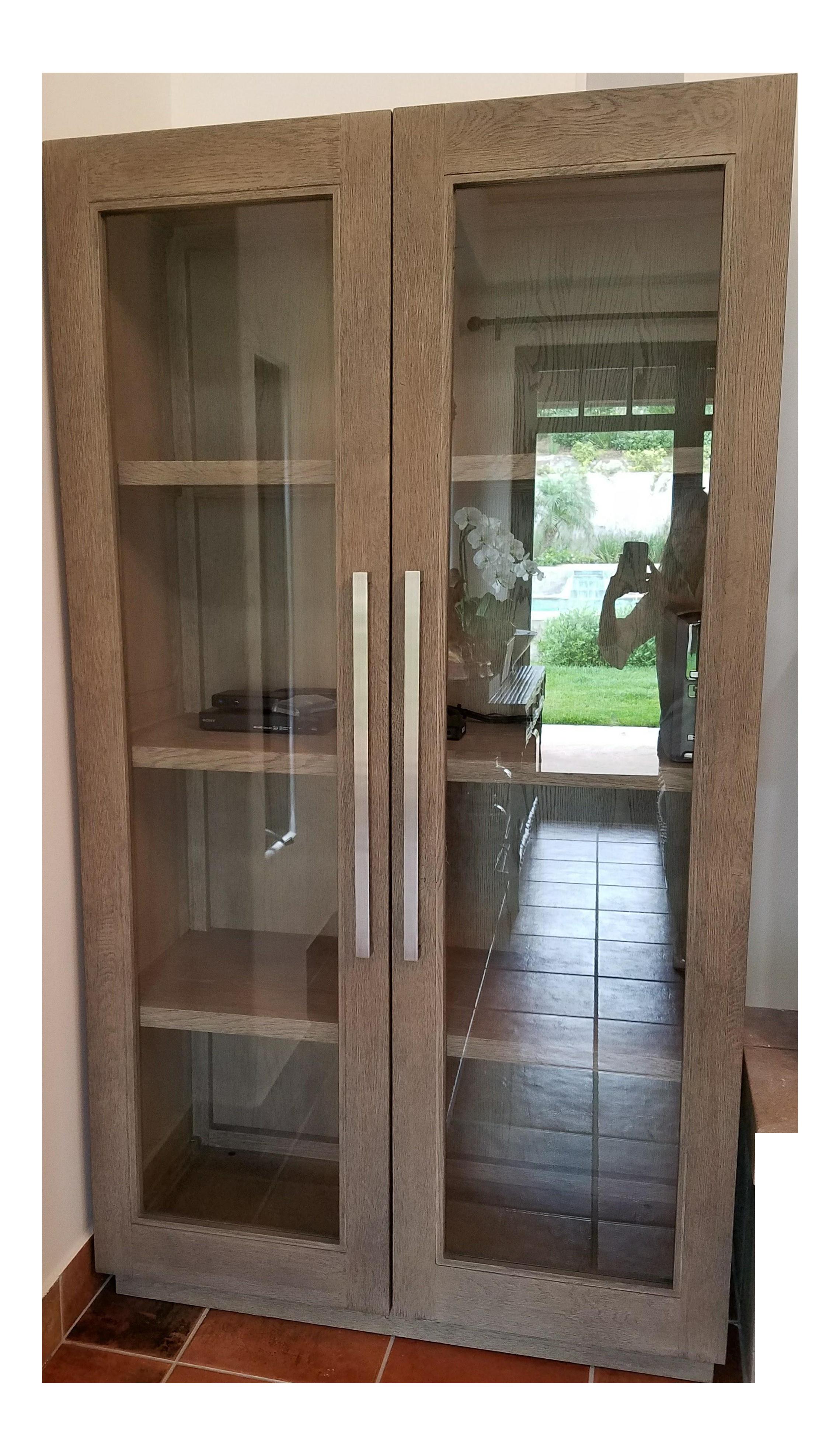 Restoration Hardware Grand Framed Glass Double-Door