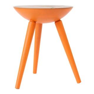 Forage Modern Workshop Orange Milking Stool For Sale