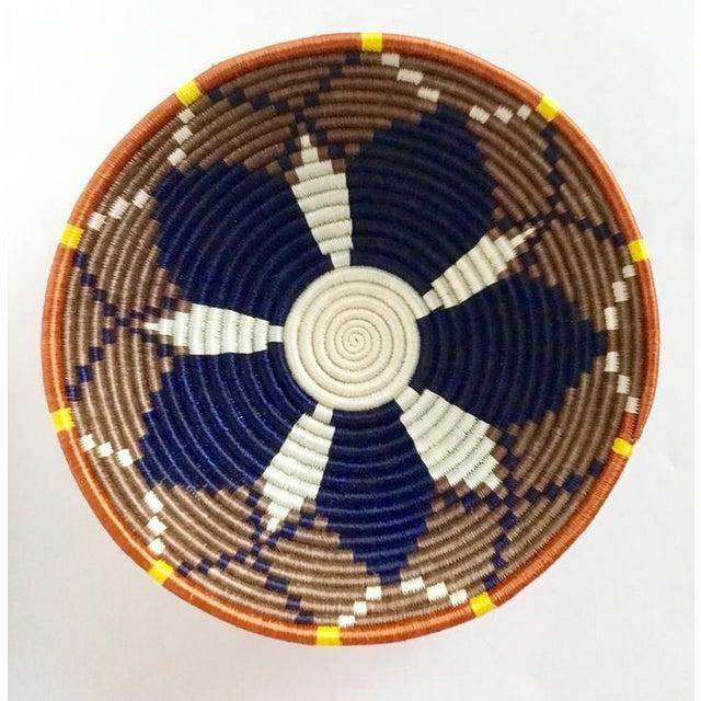 African Boho Woven Basket - Image 8 of 8