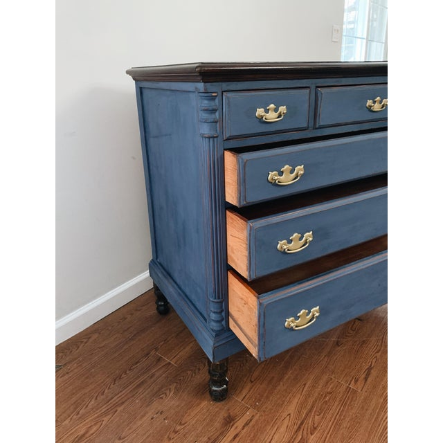 Traditional 1960s Traditional Navy Dresser For Sale - Image 3 of 13