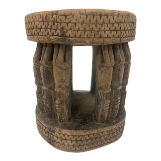 Early 19th Century Carved African Stool For Sale