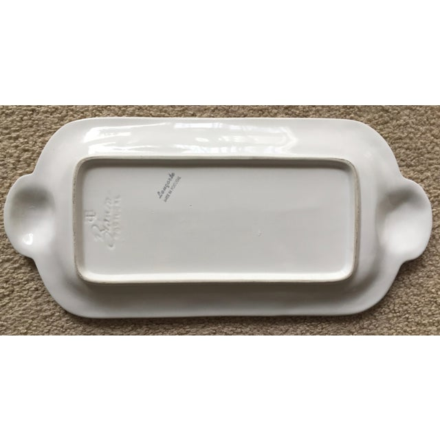 1990s Portuguese Faience Creamware Platter For Sale - Image 4 of 7