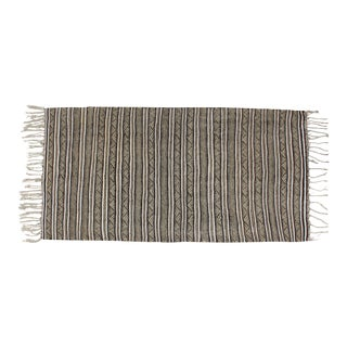 Striped Moroccan Handira Throw For Sale