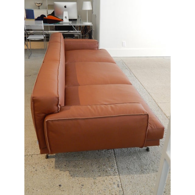 Gordon Guillaumier Lema 'Mustique' Leather Sofa - Image 9 of 9