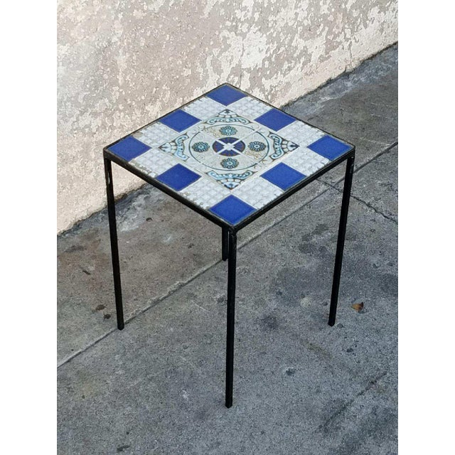 Vintage Morracan Tiled Top Side Tables - A Pair - Image 5 of 7
