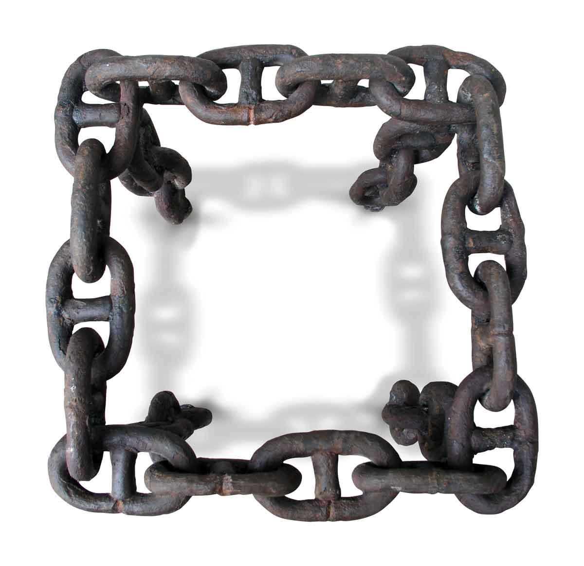 Beau Vintage Wrought Iron Chain Link Table Base   Image 4 Of 7