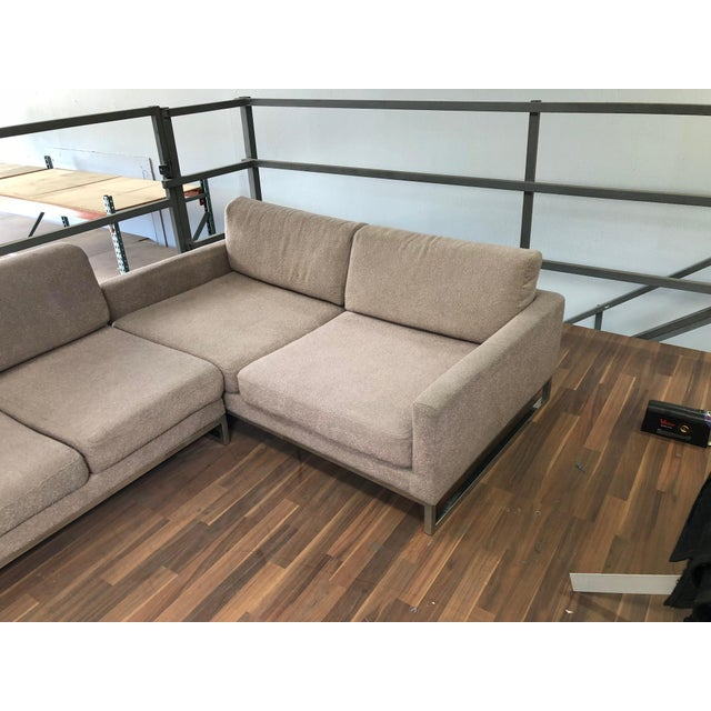 1990s Ligne Roset Styled Sectional Modern Sofa With Chrome Base For Sale - Image 5 of 13