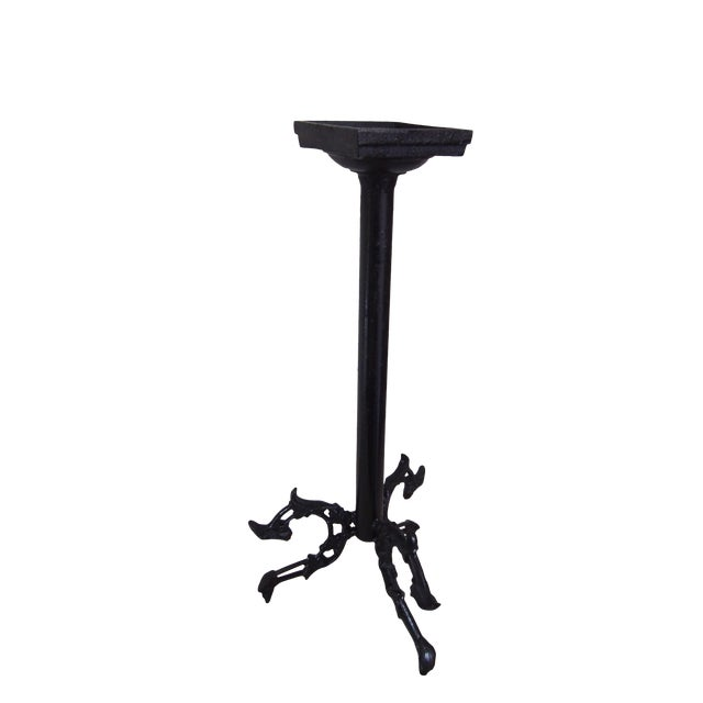 Modern Wrought Iron Candle Holder For Sale